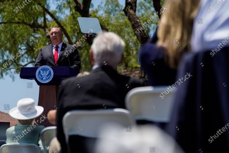 Secretary of State Michael R. Pompeo speaks at the Richard Nixon Presidential Liubrary and Museum on Thursday, July 23, 2020 in Yorba Linda, CA. Pompeo delivered a speech about China, and the Chinese Communist Party. (Kent Nishimura / Los Angeles Times)