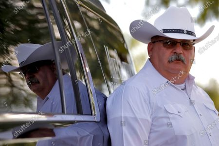 Stock Image of Maricopa County Sheriff candidate Mike Crawford, a Glendale, Ariz. police officer, is shown, in Glendale, Ariz. Crawford is running against former Sheriff Joe Arpaio and Arpaio's former second-in-command, Jerry Sheridan, in the GOP primary