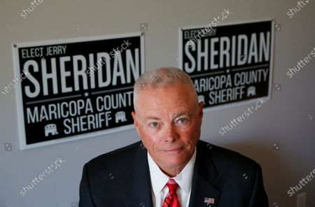 Long time law enforcement officer at the Maricopa County Sheriff's Office, Jerry Sheridan, is running for the position of Maricopa County Sheriff in the Republican primary, in Fountain Hills, Ariz. Joe Arpaio is trying to win back the sheriff's post in metro Phoenix that he held for 24 years, facing his former second-in-command, Sheridan, in the Aug. 4 Republican primary in what has become his second comeback bid