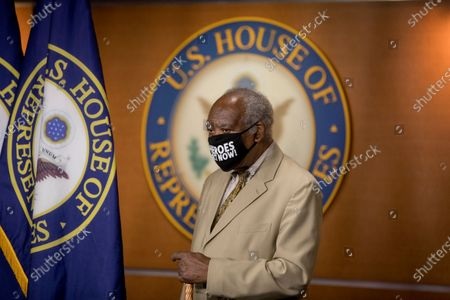 Rep. Danny Davis, D-Ill., appears at a news conference on Capitol Hill in Washington, on the extension of federal unemployment benefits
