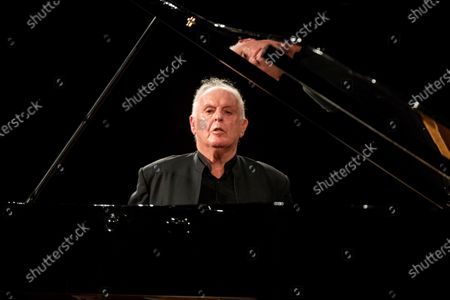 Pianist and maestro Daniel Barenboim performs during his concert in Granada's Music and Dance Festival in Carlos V Palace in Granada, Spain, 24 July 2020.