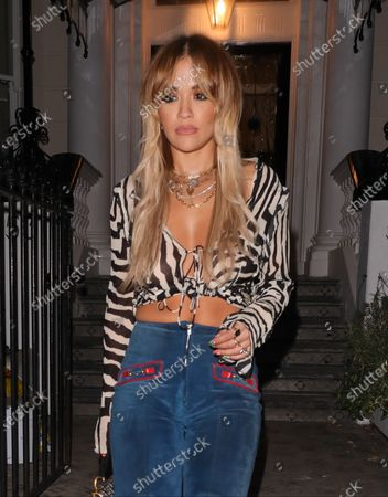 Rita Ora attends a friend's birthday party at The Flatmates in Notting Hill