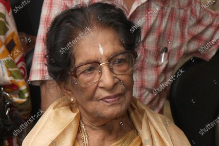 Stock Picture of (Hindustan Times Archives) Amala Shankar at an event on June 10, 2019 in Kolkata, India. Dancer and choreographer Amala Shankar died in Kolkata on July 24, 2020 at the age of 101. Shankar, who had been suffering from age-related ailments, died of cardiac arrest in her sleep, according to her family. Amala Shankar was the wife of the late dancer and choreographer Uday Shankar and mother of the late musician Ananda Shankar and acclaimed actress Mamata Shankar and sister-in-law of musician and composer Ravi Shankar, who had died in 2012.