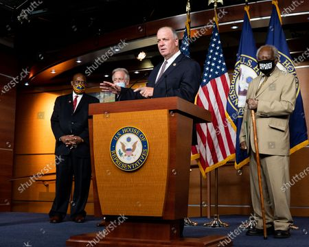 U.S. Representative, Dan Kildee (D-MI) speaking at a press conference about the extension of federal unemployment benefits at the U.S. Capitol.