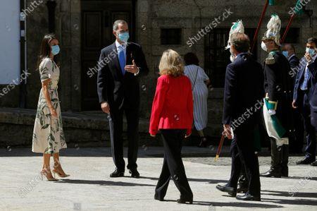 Editorial image of Spanish Royal couple visits Galicia, Santiago De Compostela, Spain - 25 Jul 2020