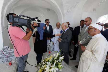 Editorial picture of The first anniversary of the death of former President Beji Caid Essebsi, Tunis, Tunisia - 25 Jul 2020