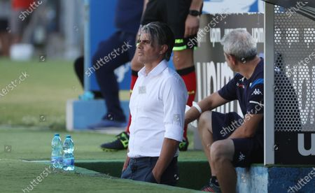 Brescia's head coach Diego Lopez during the Italian Serie A soccer match Brescia Calcio vs Parma Calcio 1913 at the Mario Rigamonti stadium in Brescia, Italy, 25 July 2020.