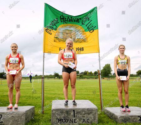 Molly Scott after winning the 100m