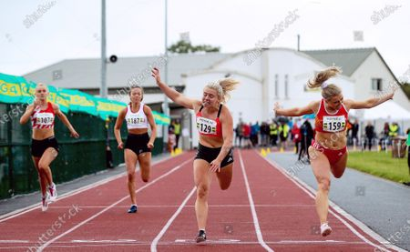 Molly Scott on her way to winning the 100m