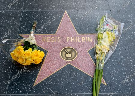 Stock Image of Hollywood honors Regis Philbin on the Walk of Fame after the announcement of his death