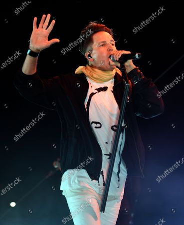 Stephan Jenkins of Third Eye Blind performs at Concerts in your Car at the Ventura County Fairgrounds, in Ventura, Calif