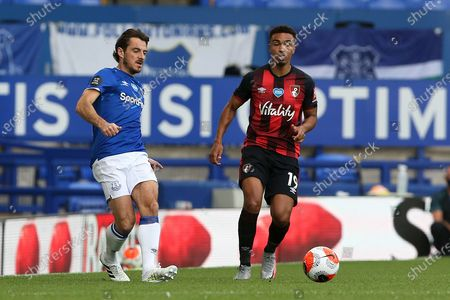 Everton defender Leighton Baines (3) in action for the last time as an Everton player  during the Premier League match between Everton and Bournemouth at Goodison Park, Liverpool