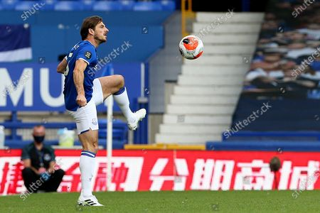Stock Picture of Everton defender Leighton Baines (3) in action for the last time as an Everton player during the Premier League match between Everton and Bournemouth at Goodison Park, Liverpool