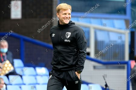 A smiling Bournemouth Manager Eddie Howe before the Premier League match between Everton and Bournemouth at Goodison Park, Liverpool