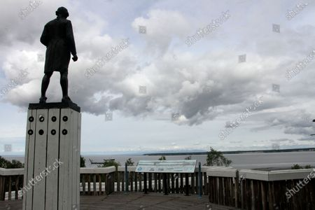 The Captain James Cook statue facing the inlet that bears his name and fronts Alaska's largest city in downtown Anchorage, Alaska is seen on . Far away from Confederate memorials, Alaska residents have joined the movement to eliminate statues of colonialists accused of abusing and exploiting Indigenous people. The effort has already resulted in a statue of Russian America colonialist Alexander Baranov being taken out of public view in one city. Others want statutes removed of U.S. Secretary of State and Alaska purchase architect William Seward and Capt. James Cook
