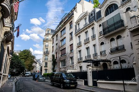 A general view of the apartment building where British-US actress Olivia de Havilland lived in Paris, France, 26 July 2020. According to media reports, Olivia de Havilland has died aged 104 in Paris.