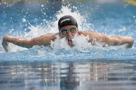 Katinka Hosszu of Hungary in action during the final of women's 200m medley at the Four Nations Swimming Competition in Budapest, Hungary, 26 July 2020. The world's first international swimming competition since the outbreak of coronavirus pandemic is attended by swimmers from Austria, the Czech Republic, Poland and Hungary.