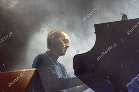 Davide Dileo performs in concert at the Verucchio Music Festival,
