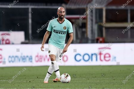 Borja Valero of FC Inter in action during Genoa vs FC Internazionale