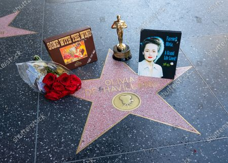 Stock Photo of Hollywood honors Olivia de Havilland on the Walk of Fame after the announcement of the film legend's death