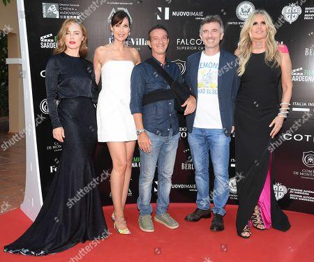 Stock Picture of Melissa George, Carol Alt, Salvatore Ficarra, Valentino Picone and Tiziana Rocca