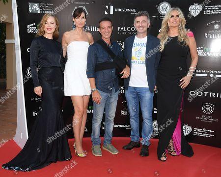 Melissa George, Carol Alt, Salvatore Ficarra, Valentino Picone and Tiziana Rocca