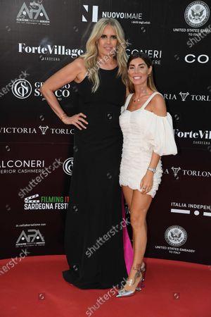 Stock Photo of Tiziana Rocca with Bianca Atzei