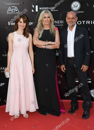 Tiziana Rocca, Paola Cortellesi and Riccardo Milani