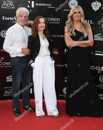 Isabelle Huppert, Tiziana Rocca and Michele Placido
