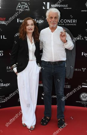 Isabelle Huppert and Michele Placido