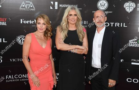 Gianmarco Tognazzi, Tiziana Rocca and Claudia Gerini