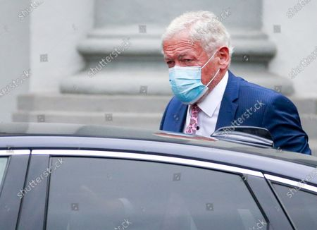 Belgium Transport Minister Francois Bellot arrives at a meeting of the National Security Council, consisting of politicians and intelligence services, to discuss the deconfinement in the ongoing Covid-19 (Coronavirus) crisis in Brussels, Belgium, 27 July 2020. The reported Covid-19 contaminations are rising again. It is expected that some measures will be tightened again, instead of opening the next phase.