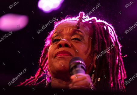 Stock Image of Catherine Russell performs with Steven Bernsteinâ€s MTO@20 as part of Winter Jazz Festival Marathon at (le) Poisson Rouge