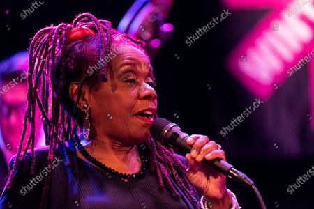 Stock Picture of Catherine Russell performs with Steven Bernsteinâ€s MTO@20 as part of Winter Jazz Festival Marathon at (le) Poisson Rouge