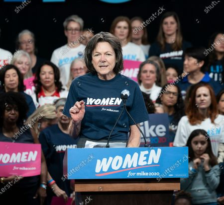 Stock Image of Diana Taylor speaks during Mike Bloomberg 2020 launch Women for Mike at Sheraton New York