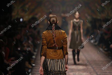 Editorial photo of Lena Hoschek presents his fashion at Mercedes-Benz, Berlin, Berlin-Mitte, Germany - 15 Jan 2020