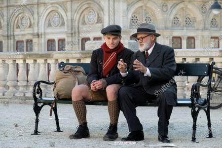 Stock Image of Simon Morze as Franz Huchel and Bruno Ganz as Prof. Sigmund Freud