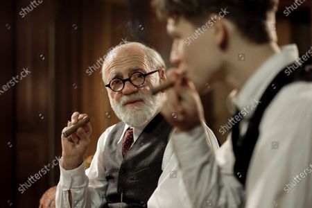 Stock Picture of Bruno Ganz as Prof. Sigmund Freud and Simon Morze as Franz Huchel