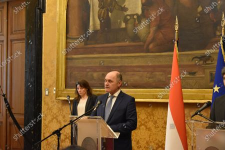 Press conference by the President of the Chamber, Roberto Fico with the President of the Austrian National Council, Wolfgang Sobotka, at the end of their meeting.