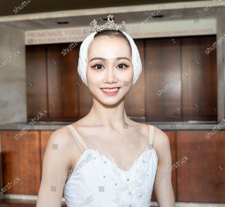 Dancer Qi Bingxue meets media at press preview of Grand Swan Lake by Shanghai Ballet at Lincoln Center David Koch Theater