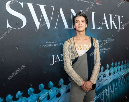 Dancer Wu Husheng meets media at press preview of Grand Swan Lake by Shanghai Ballet at Lincoln Center David Koch Theater