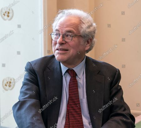 Stock Photo of Violinist Itzhak Perlman attends Holocaust Memorial ceremony at UN General Assembly at United Nations Headquarters