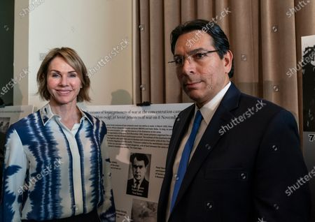 US Ambassador Kelly Craft & Israel Ambassador Danny Danon attend Opening of exhibition commemorating 75th anniversary of liberation of Auschwitz-Birkenau concentration camp at UN Headquarters