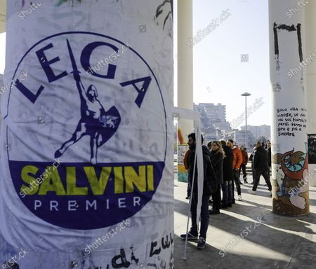 Editorial image of Salvini's Party in Scampia, Naples, Italy - 08 Feb 2020