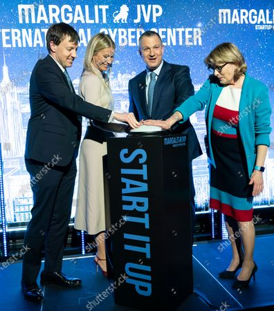 James Patchett, Gwyneth Paltrow, Erel Margalit, Vicki Been attend opening of NYC JVP International Cyber Center at 122 Grand street