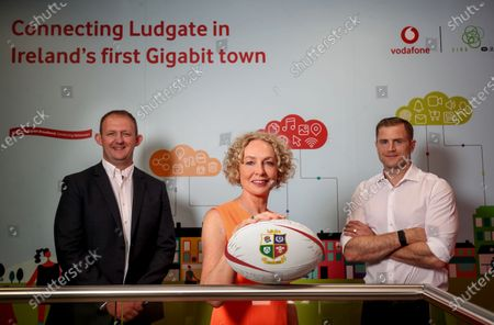 Vodafone (Ireland and UK) have today been revealed as lead partner for the 2021 British & Irish Lions Tour of South Africa. As lead partner, Vodafone's logo will be displayed on the front of the Lions' shirt. Vodafone will also provide communications technology to keep everyone involved in the Tour connected and will also provide technical support for training and player performance. Pictured at the announcement are Anne O'Leary, CEO Vodafone Ireland, Jamie Heaslip former British & Irish Lion and Gerry Nixon, Head of Sponsorship & Business Brand Vodafone Ireland. Pictured is (L-R) Gerry Nixon, Head of Sponsorship & Business Brand Vodafone Ireland, Anne O'Leary, CEO Vodafone Ireland and Jamie Heaslip former British & Irish Lion