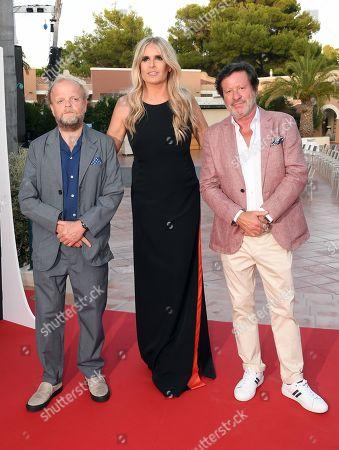 Joaquim de Almeida, Tiziana Rocca and Toby Jones