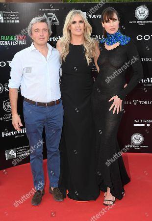 Andrea Goretti and Carol Alt and Tiziana Rocca
