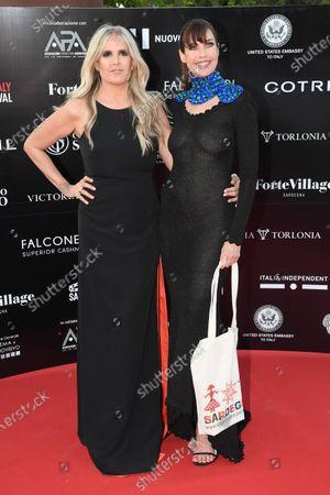 Carol Alt and Tiziana Rocca