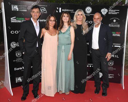 Giulio Base, Maria Sole Tognazzi, Paola Cortellesi, Tiziana Rocca and Riccardo Milani
